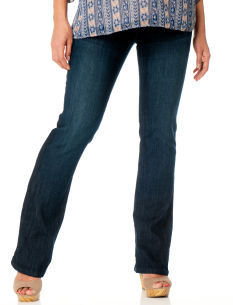 Motherhood Indigo Blue Side Panel Stretch Fabric Boot Cut Maternity Jeans