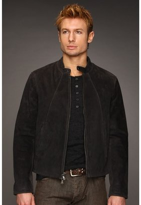 John Varvatos Suede Zip Moto Jacket (Kohl) - Apparel