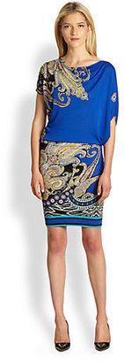 Etro Asymmetrical Blouson Jersey Dress