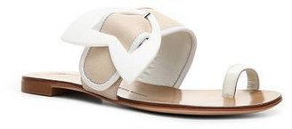 Giuseppe Zanotti Leather Arrow Flat Sandal