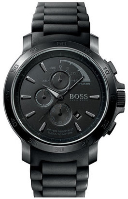 Boss Black Silicone Strap Watch