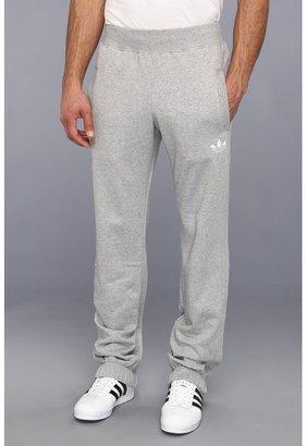 adidas Sport Fleece Track Pant (Medium Grey Heather/White) - Apparel