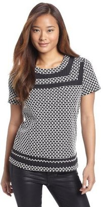 Collective Concepts Women's Printed Short Sleeve Top