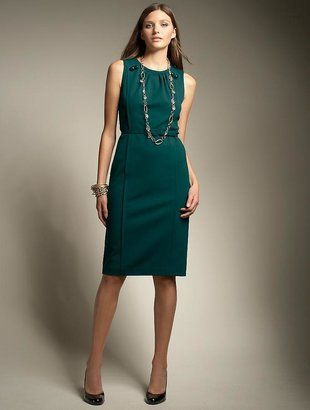 Talbots' Ponte knit belted sheath