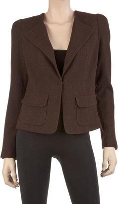 Max Studio Wool Crepe Tailored Jacket