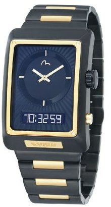 Evisu Men's EV-7014-55 Shinzo Black Ion-Plated Ana-Digi Stainless Steel Watch