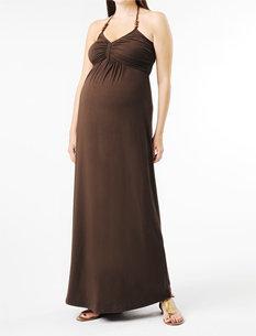 A Pea in the Pod Spaghetti Strap Halter Maternity Maxi Dress