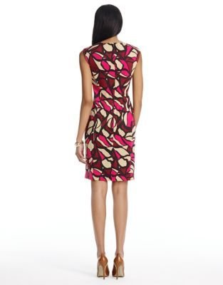 Jones New York Collection JONES NEW YORK Abstract Print Cap Sleeve Sheath Dress