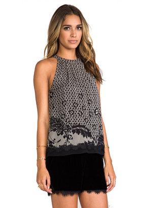 Diane von Furstenberg Parvati Print Chiffon Shirt
