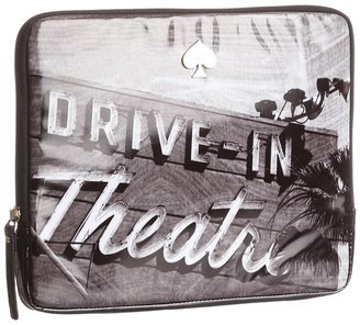 Kate Spade Drive In Movie Marquee Tablet Sleeve (Black Multi) - Bags and Luggage