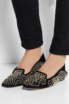 Alexander McQueen Studded suede slippers