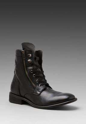 Diesel Miliboot Treated Leather Boot