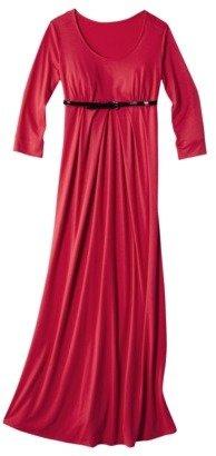 Merona Maternity 3/4-Sleeve Scoop-Neck Maxi Dress - Assorted Colors