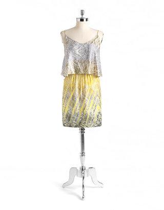 BCBGMAXAZRIA LOVE ADY Ruffled Print Tank Dress