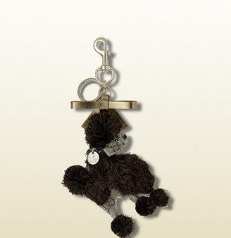 Gucci 'lulú' Guccioli Charm With Clip, Key Ring, Bow, And Trademark Charm.