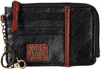 The Sak Iris Card Wallet (Black Onyx) Wallet Handbags