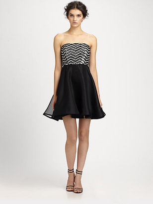 Alice + Olivia Maeve Beaded Silk Dress