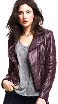 Victoria's Secret Ribbed Leather Jacket