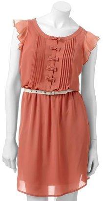 Lauren Conrad bow chiffon dress