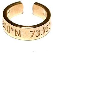 Rosegold Coordinates Legend Ring In Gold