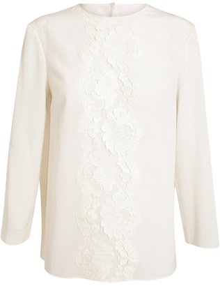 Dolce & Gabbana Silk and Lace Top