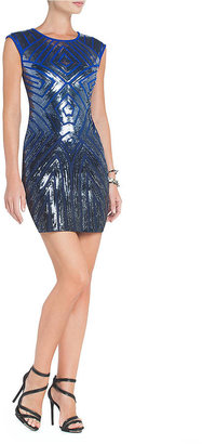 BCBGMAXAZRIA Pat Ombre-Sequin Sheath Dress