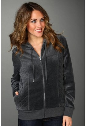 Calvin Klein Quilted Hoodie (Charcoal) - Apparel