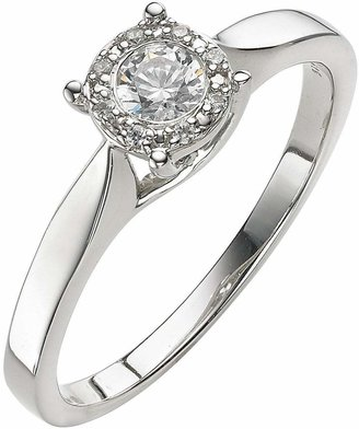 The Astral Diamond 9 Carat White Gold 25 Point Cluster Ring