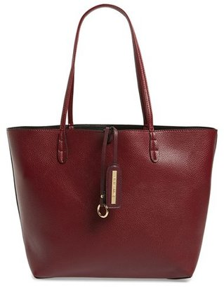 Junior Women's Street Level Reversible Faux Leather Tote - Burgundy $48 thestylecure.com