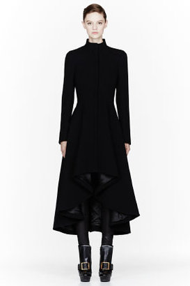 Alexander McQueen Black textured drop-tail jacket