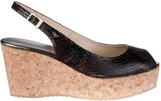 Jimmy Choo Praise snake cork wedge sandal