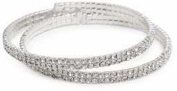 Cezanne Set of 2 Silvertone Cuff Bracelets