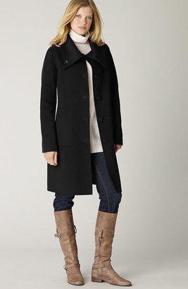 J. Jill Double-faced funnel-neck coat