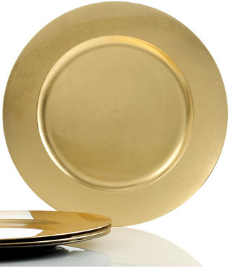 Charter Club Dinnerware, Set of 4 Gold Charger Plates