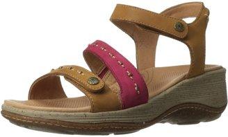 Acorn Women's Vista Fawn/Crimson Ankle Wedge Sandal 9M