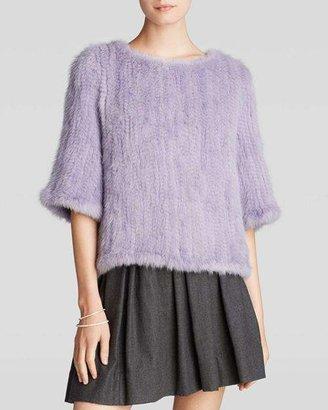 Maximilian Furs Maximilian Knitted Mink Pullover