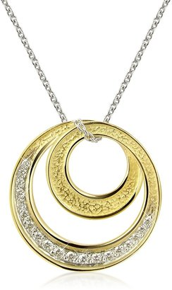 Torrini Infinity 18K Yellow Gold Diamond Pendant Necklace