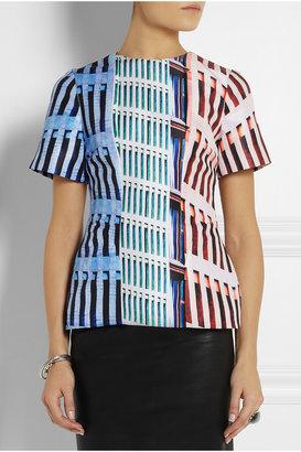 Mary Katrantzou Printed satin-twill top