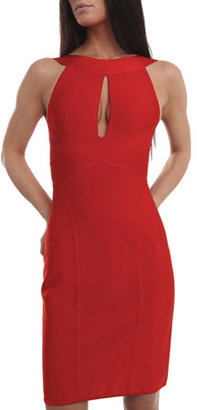 Hervé Leroux Open Back Dress in Red