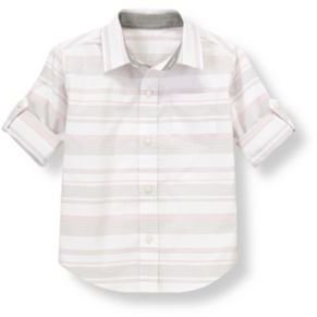 Janie and Jack Stripe Roll Cuff Shirt