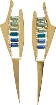 Iosselliani Tonal Fused Stone Spike Earrings
