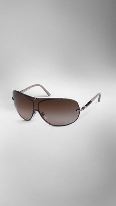 Burberry Metal Frame Visor Sunglasses