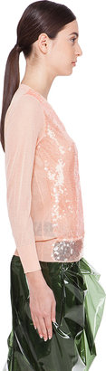 Marc Jacobs Peach Sequin Sweater