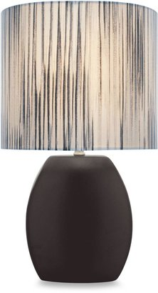 Lite Source Reiko Black Table Lamp with Fabric Shade