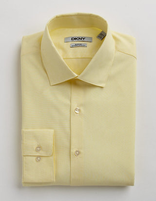 DKNY Slim-Fit Micro Stripe Cotton Dress Shirt