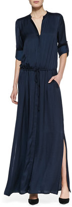 Vince Flowy Maxi Shirtdress