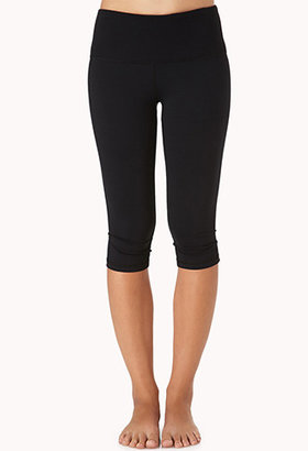 Forever 21 Ribbed Skinny Workout Capris