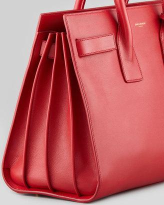Saint Laurent Sac du Jour Small Carryall Bag, Red