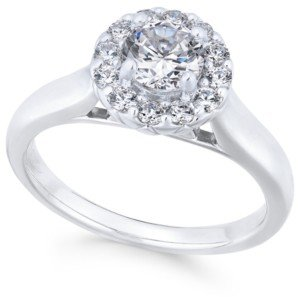 Macy's X3 Certified Diamond Engagement Ring (1 ct. t.w.) in 18k White Gold, Created for