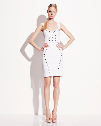 Betsey Johnson Stretch Sundress With Stud Details